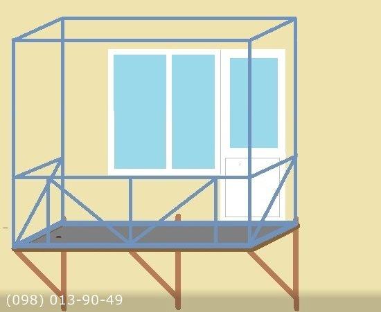Конструкция навесного балкона.